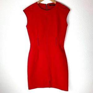 Zara Basic Collection Red Dress Size Small